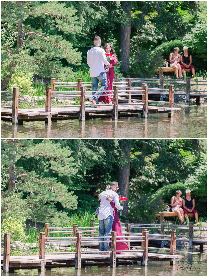 Rafia + Ayub are Engaged! | Anderson Japanese Gardens Surprise Proposal in Rockford, IL